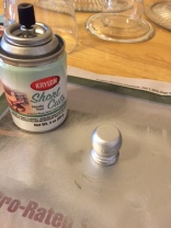 Spraying wooden knob