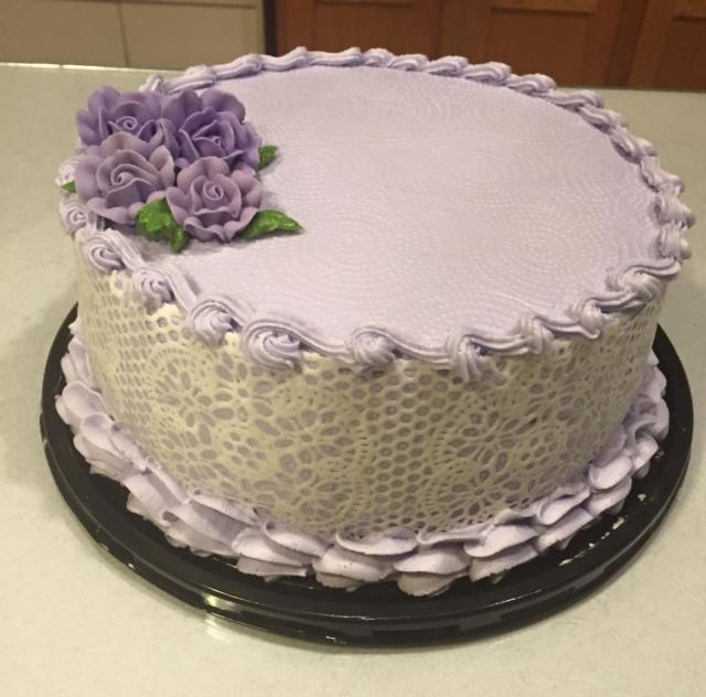 SugarVeil Lace Birthday Cake